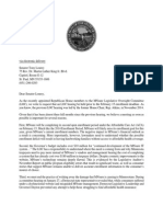 Letter from Minnesota House Legislative Oversight Committee Members to Sen. Tony Lourey on MNsure
