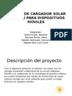 Sistema de Cargador Solar Tipo Usb Para Dispositivos