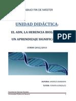 TFM Andrea Barbarin Alonso, Unidad Didáctica Del ADN.