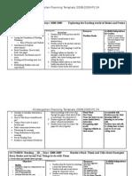 k grade planning 2008-2009