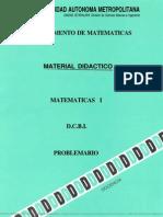 Problemario Matematicas I; UAM