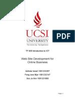 ICT creating website report