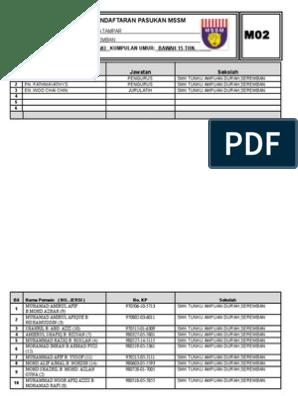 Borang Pendaftaran M02 Bt2