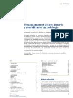 2014 Terapia Manual Del Pie. Interés y Modalidades en Podología
