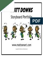 MATT DOWNS Storyboard Portfolio 2015