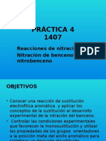 reacciones de nitracion