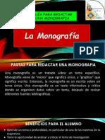 Pautas Para Elaborar La Monografia