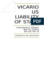 Vicarious Liability of State