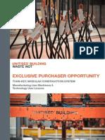 UB Equipment Sale Brochure
