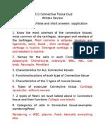 2013 Connective Tissue Quiz Review