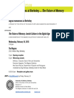 Future of Memory and DH Berkeley Launch (2.18.2015)