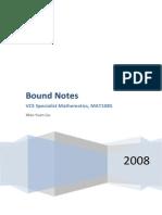 Specialist Maths 3/4 Bound Notes