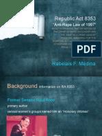 Medina, Rabelais Crim2 Report RAdina, Rabelais Crim2 Report RA 8353