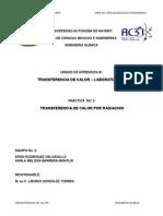 PRACTICA No 3 de Transferencia de Calor Por Radiacion.