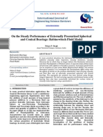 On the Steady Performance of Externally Pressurized Spherical and Conical Bearings