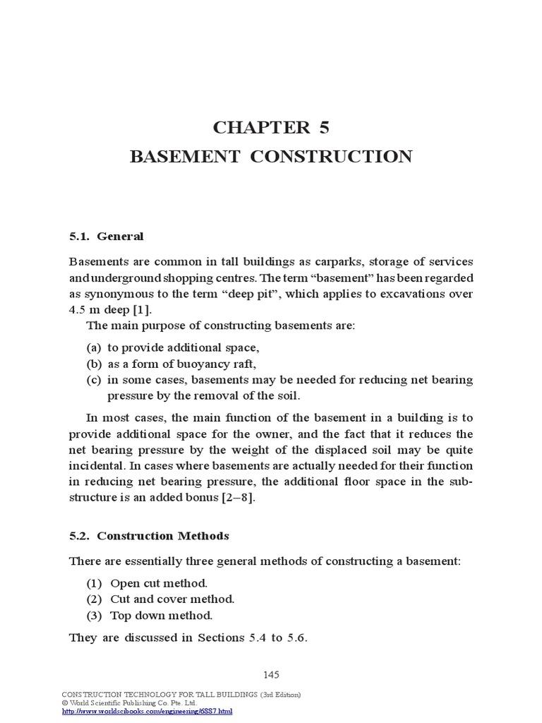 high rise buildings basement construction deep foundation aquifer rh scribd com Propane Safety Manual Maintenance Handbook.pdf