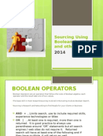 sourcing using boolean search