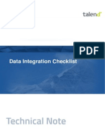 TN en DI Talend DataIntegration Checklist