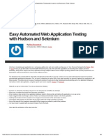 Easy Automated Web Application Testing With Hudson and Selenium _ Think Vitamin