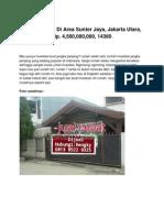 Rumah Dijual Di Area Sunter Jaya, Jakarta Utara, Rp. 4,500,000,000, 14360 - Www.rumahku.com