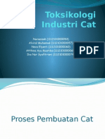 Toksikologi Industri Cat Ppt