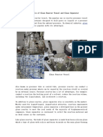 The Materials of Glass Reactor Vessel and Glass Separator