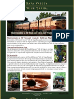 Napa Valley Wine Train Press Packet (Español)