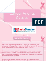 Cancer And Its Causes