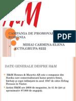 Campania de Promovare H&M ÎN ROMÂNIA