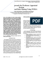 A Novel Approach for Professor Appraisal System In Educational Data Mining Using WEKA