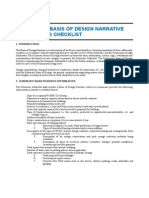 Basis of Design Narrative and Systems Checklist