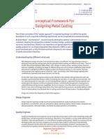 Conceptual Framework for Designing Metal Castings