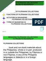 Managing Filipiniana Collections