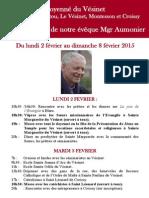Visite Pastorale de Monseigneur Aumonier 2015-Version Du 13janv