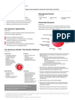 Rocket Internet Fact Sheet