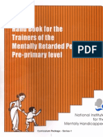 Hand Book for the Trainers of Pre Primary