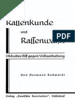 Hermann Rehwaldt - Rassenkunde Und Rassenwahn
