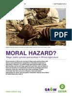 Oxfam Moral Hazard Ppp Agriculture Africa 010914 en 0