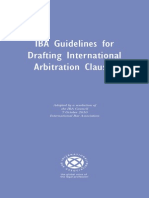 Guidelines for Drafting Intl Arbitration Clauses 2010