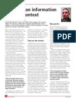 Big Data an Information Security Context