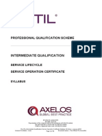 The ITIL Intermediate Qualification Service Operation Certificate Syllabus v5.4