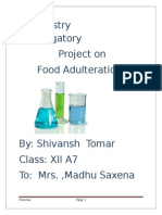 Chemistry Investigatory Project on FOOD ADULTERATION
