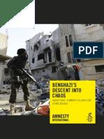 Amnesty Int'l report on Libya chaos