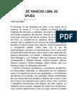 Crónica de Wancho Lima