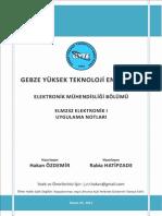 Elektonik-1 Gebze Teknik Üniversitesi Çözümlü Örnekler