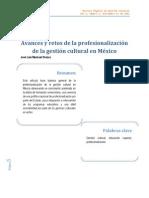 Mariscal Orozco - Avances y Retos de La Profesionalización de La Gestión Cultural en México (1)