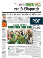 Front - The Herald-Dispatch, Oct. 25, 2009