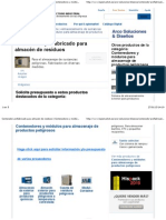 Contenedor prefabricado para almacén de residuos | Contenedores y módulos para almacenaje de productos peligrosos | Arco Soluciones & Diseños | logismarket.es.pdf