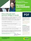 Profession de Foi Bernard LACHAMBRE Legislative2015