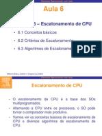 Escalonamento de CPU